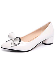 Women's Heels Spring Summer Fall Winter Club Shoes Formal Shoes Leatherette Outdoor Office & Career Casual Chunky Heel Bowknot Walking