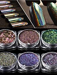 1 шт. Лазерная переливчатость волшебный порошок зеркало фейерверк порошок лазера хамелеон 6 цвет