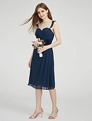 LAN TING BRIDE Knee-length Straps Bridesmaid Dress - Beautiful Back Sleeveless Chiffon