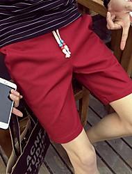 Men's Low Rise Micro-elastic Shorts Pants,Simple Loose Solid