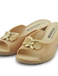 Women's Sandals Slingback Rubber Summer Casual Wedge Heel Dark Blue Light Blue Almond 1in-1 3/4in