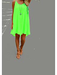 ebay AliExpress Europe and large size women stitching mesh halter chiffon dress Dress