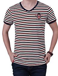 Homme Tee-shirt Pêche Respirable Eté Rouge/noir Bleu et Noir