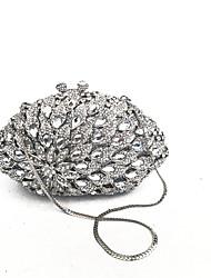 Mulheres embreagens noite coverd prata com cristais completos para a noite / evento / ocasião cocktail