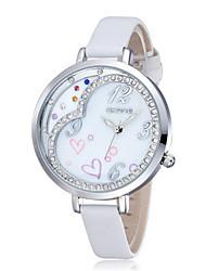 SKONE Mulheres Relógio de Moda Chinês Quartzo Couro Banda Branco Rosa