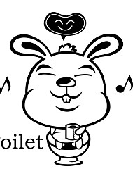 Wall Stickers Wall Decals Style Cartoon Creative PVC Toilet Stickers