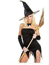 Costumes de Cosplay Collier Sorcier/Sorcière Fête / Célébration Déguisement d'Halloween Autres Robe Gants Coiffures Halloween Féminin