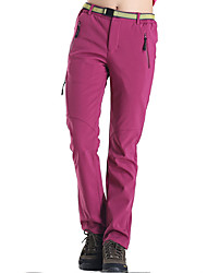 Mujer Pantalones para senderismo Mantiene abrigado Secado rápido Resistente al Viento Forro Polar Listo para vestir Transpirable Reductor