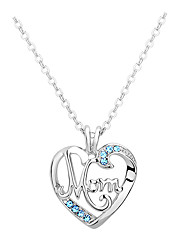 Women's Pendant Necklaces Crystal Chrome Euramerican Fashion Personalized Simple Style Light Blue Red Rose Red Yellow Purple Jewelry For