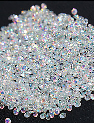 720Pcs Micro Diamond DIY Nails Rhinestones Crystal Flat Back Non Hotfix Rhinestones stickers Need Glue Nail Art Decoration
