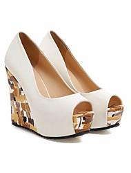 Damen-Sandalen-Lässig-PUKomfort-Weiß
