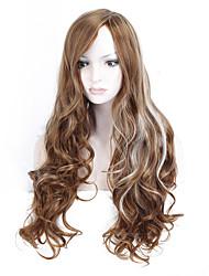 Perruque de haute qualité en fibre de verre résistant à la chaleur longue perruque ondulée à bas prix pour femmes perruques synthétiques