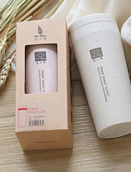 Double Layer Thermos Insulation Cup Made By Wheat Straw Vacuum cup