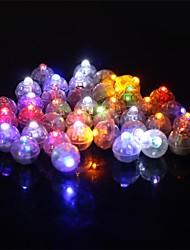 50 шт / набор раунд привело RGB вспышка мяч лампы лампа огни для фонаря рождество свадьба украшение партии