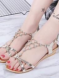 Feminino-Sandálias-Conforto Sapatos clube-Salto Baixo--Courino-Social Casual