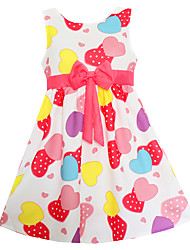 Girls Fashion Colorful Heart Dresses Party Birthday Pageant Baby Children Clothing