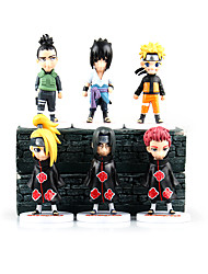 Las figuras de acción del anime Inspirado por Naruto Sasuke Uchiha PVC 11 CM Juegos de construcción muñeca de juguete
