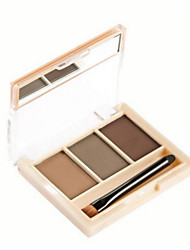 1Pcs 3 Colors Professional Eyebrow Powder Eye Brow Makeup Waterproof Eye Shadow Eyebrow Make Up Palette Set Kit