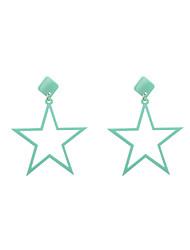 Fashion Women   Five-pointed Star Shape   Acrylic Drop Earrings