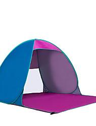 3-4 Pessoas Tenda Único Tenda Automática Um Quarto Barraca de acampamento Aço Inoxidável Portátil-Campismo Viajar