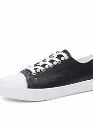 Damen Flache Schuhe Komfort Leinwand Frühling Normal Weiß Schwarz lichter Ocker Flach