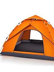 3 a 4 Personas Tienda Tienda de playa Solo Carpa para camping Tienda de Campaña Automática Impermeable Portátil 2000-3000 mm para