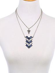Femme Collier multi rangs Forme de Triangle Amitié Simple Style Bijoux Pour Soirée