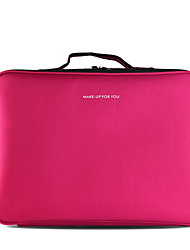 Cosmetic Bag Makeup Storage Solid Quadrate Nylon