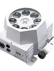 30w 8 leds lâmpada 8 olhos girar luz do padrão rgbw estágio efeito iluminação dmx