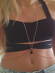 Women's Body Jewelry Body Chain Fashion Crystal Irregular Purple White Jewelry For Casual Sports 1 pcs