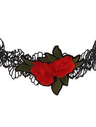 Жен. Ожерелья-бархатки Бижутерия Геометрической формыУникальный дизайн С логотипом Цветочный принт Multi-Wear способы Ручная работа