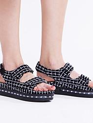 Для женщин-Для прогулок Повседневный Для занятий спортом-Полиуретан-На плоской подошве-Удобная обувь Оригинальная обувь Light Up обувь-