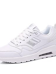 Feminino-Tênis-Sapatos de Berço-Rasteiro--Microfibra-Ar-Livre Casual Para Esporte