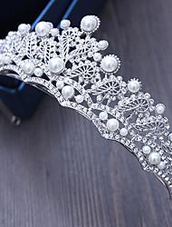 Strass alliage imitation perle tête-mariage spéciale occasion tiaras extérieur épingle à cheveux 1 pièce