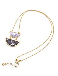 Femme Pendentif de collier Forme Géométrique Personnalisé Le style mignon Un ruban/ Noir Bijoux Pour 1pc