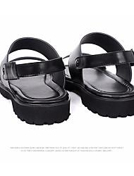 Sandales homme ressort confort cuir tulle casual noir