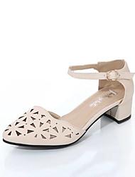 Damen-High Heels-Kleid Lässig-Lackleder-Blockabsatz-Komfort Club-Schuhe-