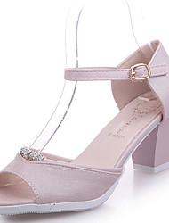 Damen-Sandalen-Lässig-PU-Niedriger Absatz-Komfort-