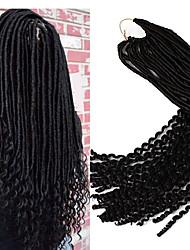 22inch soft fauxlocs crochet braids with curly end kanekalon dreadlocs hair extension synthetic braiding hair ombre burgundy 1pc