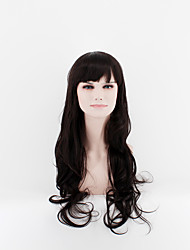 2017 Japan and South Korea fashion ladies long wigs black straight bangs natural song high temperature wire wig
