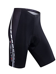 Realtoo Cycling Padded Shorts Men's Bike Padded Shorts/Chamois Breathable 3D Pad Sweat-wicking Comfortable Polyester LYCRA® Solid