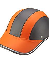 Моторный шлем бейсболка стиль безопасность жесткая шляпа anti-uv orangeblack