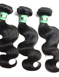 3 Bundles/ Lot 4A 14 Inch Indian Body Wave Human Hair Weave