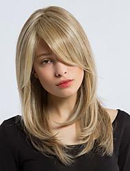 MAYSU  Elegant   Mixed Color Long  Hair Synthetic Wigs   Beautiful  Woman hair