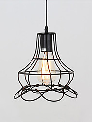 Vintage Metal Shade Industrial Pendant Light Max 60W With 1 Light Painted Finish Dining Room Kitchen Bar Decor
