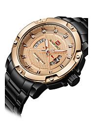 NAVIFORCE Pánské Sportovní hodinky Módní hodinky Náramkové hodinky Hodinky na běžné nošení Křemenný Kalendář Nerez KapelaCool Běžné