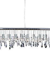 E12/E14 Crystal Pendant Light Modern/Contemporary Chrome Metal K9 Crystal Designers Ceiling Light Dining Room Study Room/Office