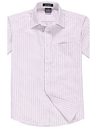 Men's Business Oxford Striped Short Sleeve Shirt  DNJF-015