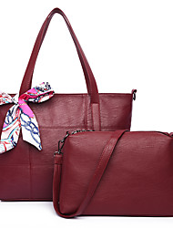 Feminino Outros Tipos de Couro benzóico Conjuntos de saco Todas as Estações