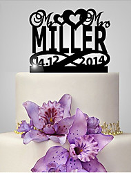 Personalized Acrylic Bride And Groom Wedding Anniversary Cake Topper